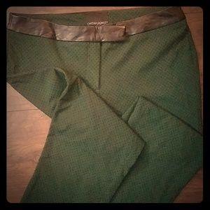 Green and Black Polka Dot Work Pants